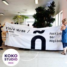 Banner Druck für Festival der Regionen